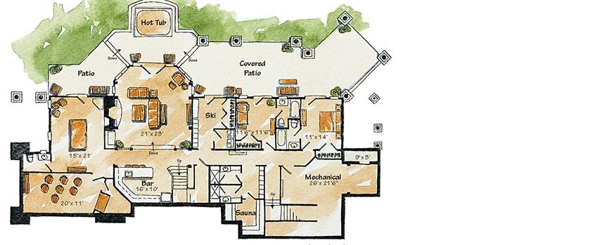 Plan 11590kn Full Tilt Luxury Mountain Home Plan Mountain House Plans House Plans Large Family House Plan