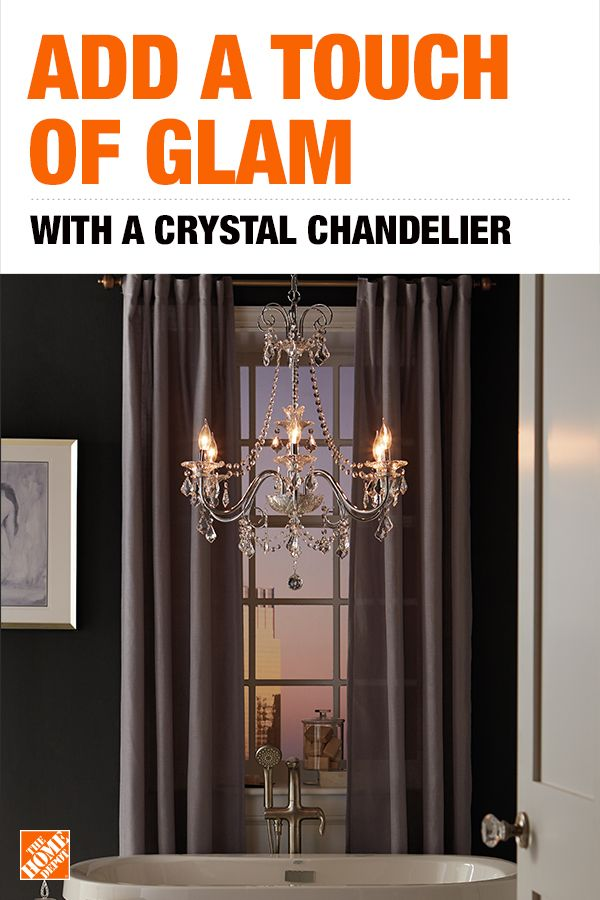 Home Decorators Collection 6 Light Chrome Crystal Chandelier Taps Chandeliers And Elegant