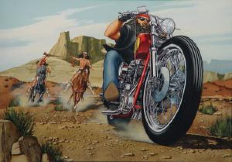DAVID MANN COLLECTION 50 Masterpieces MOTORCYCLE Rare ART From EASYRIDERS No 4