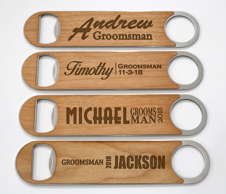 Groomsmen Gift Idea, Personalized Bottle Opener, Wedding