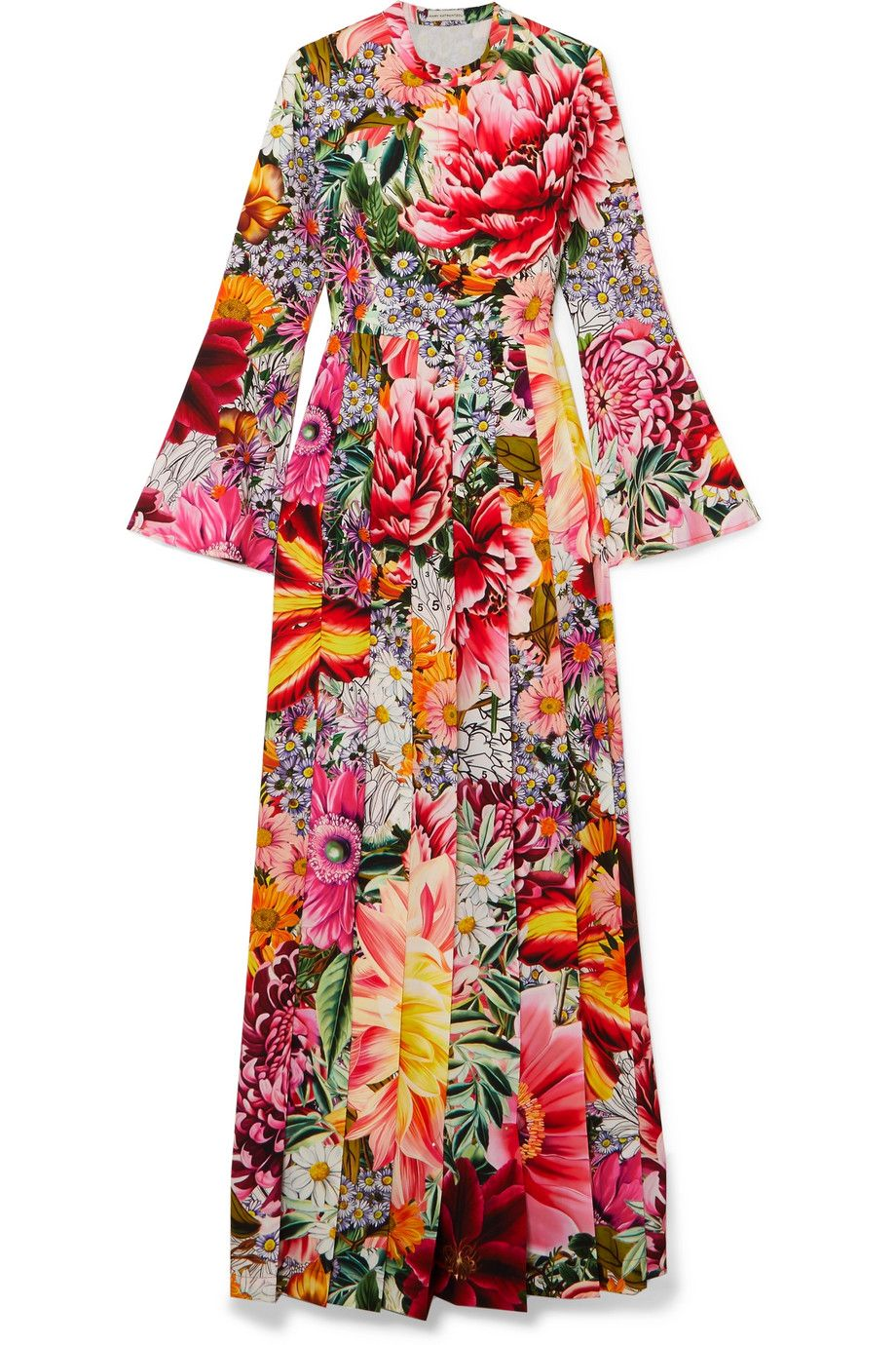 Desmine floral-printed crepe dress Mary Katrantzou Discount Pay With Visa Classic Sale Buy Fake Online LZ7XL