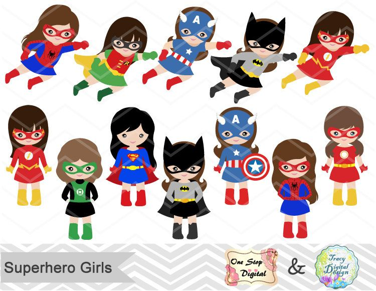 24 little girl superheros digital clip art girls superhero clipart rh pinterest com girl superhero clipart free girl superhero clip art free