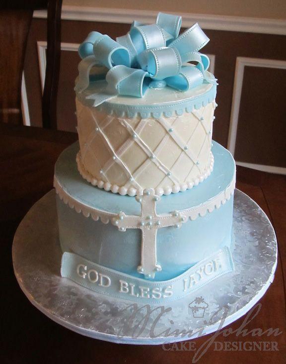 Baby Boy Baptism Cake With Images Baptism Cake Boy Baptism Cake