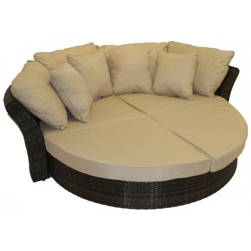Round Sofa Home Rattan Furniture Windward Round Sofa Daybed Outdoor Wicker Furniture Furniture Round Sofa
