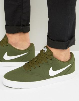 timeless design bd9fc 1c5e9 Nike SB Check Solar Canvas Trainers In Green 843896-311