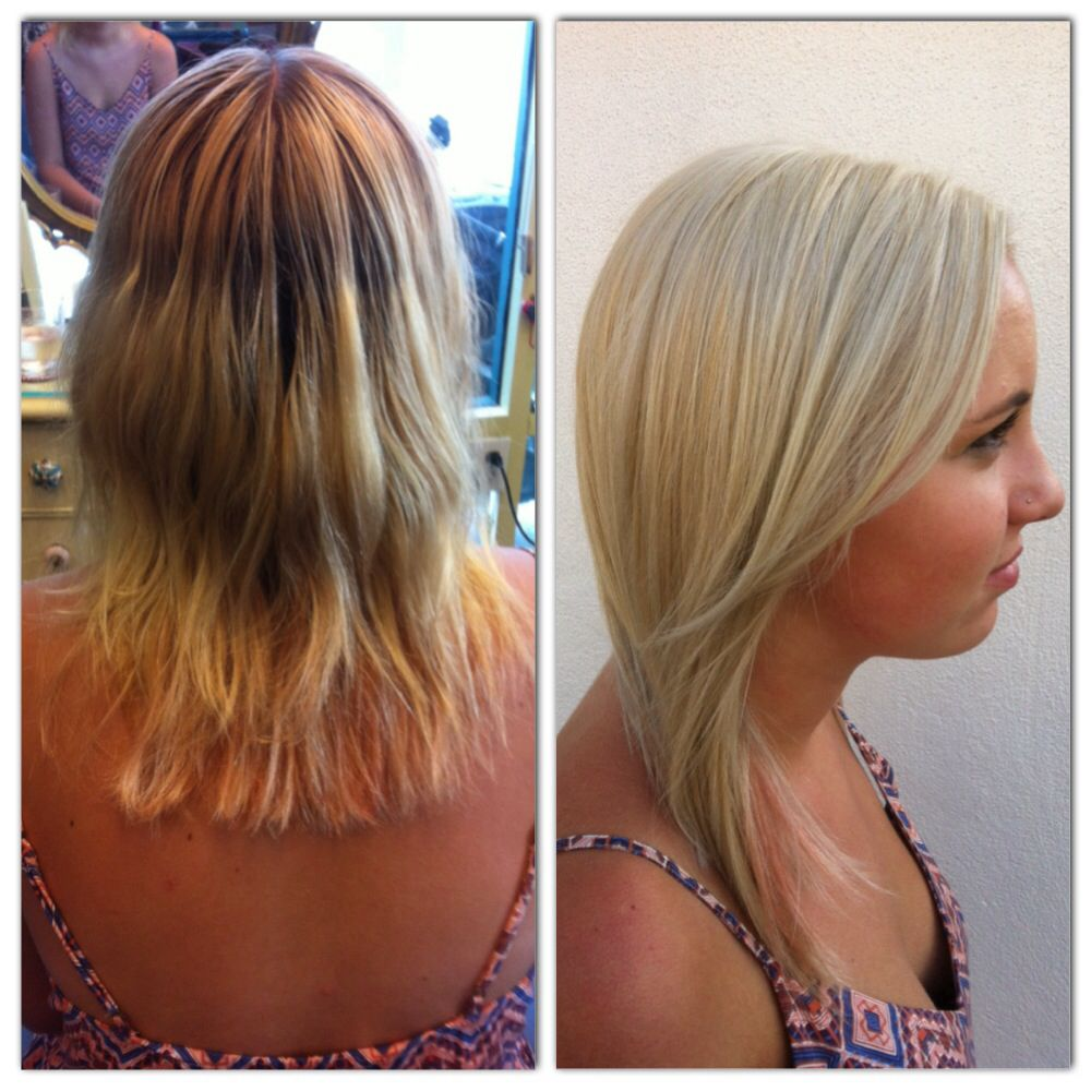 Before and after. Going #platinum