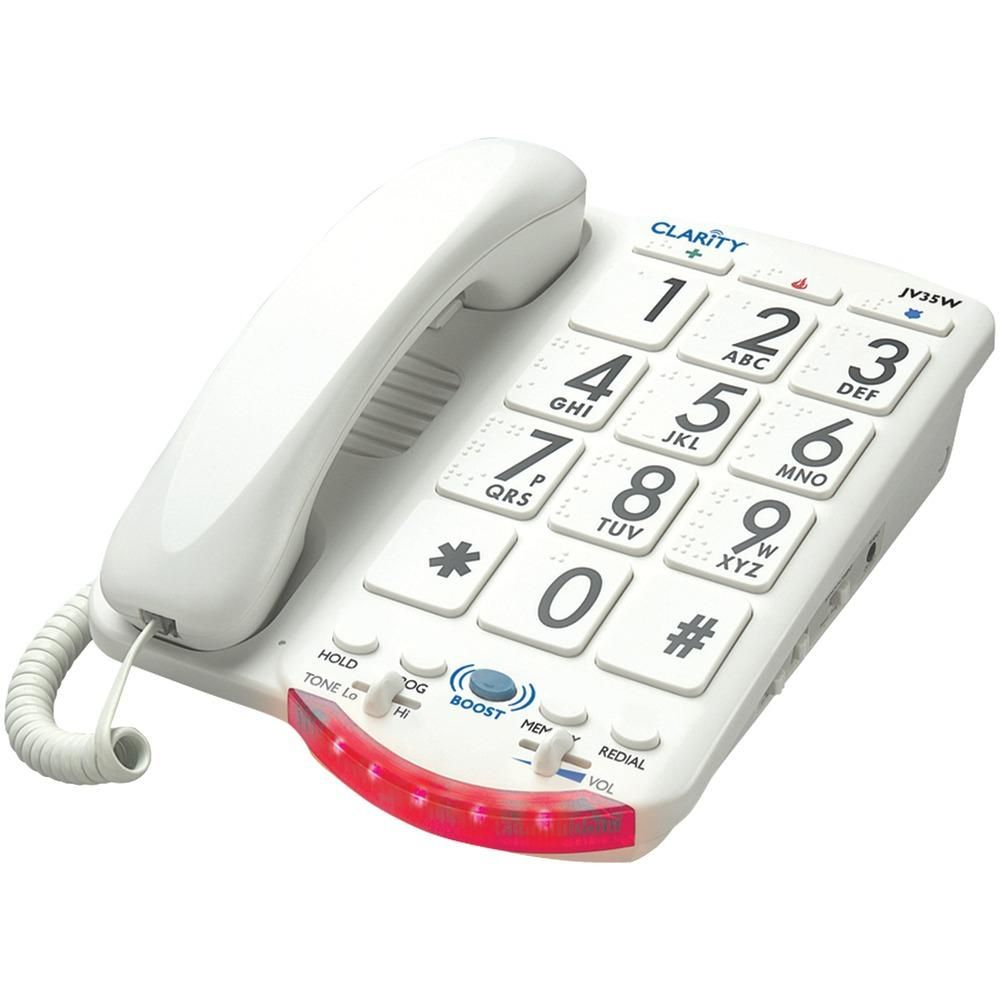 Clarity Amplified Telephone With Talk Back Numbers White Buttons Wholesale Cell Phones Phone Cell Phone Store