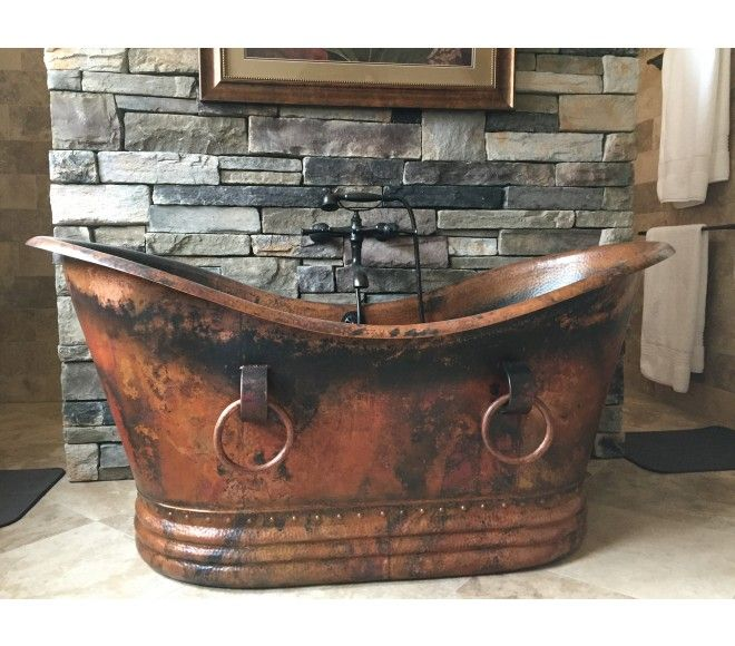 Del Cobre Freestanding Copper Tub By Coppersmith Copper Tub Rustic Bathroom Designs Rustic Bathrooms