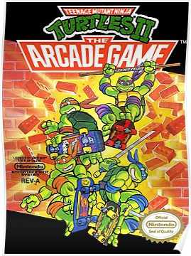 Tmnt - Arcade Game Poster | Products | Nes games, Ninja turtles