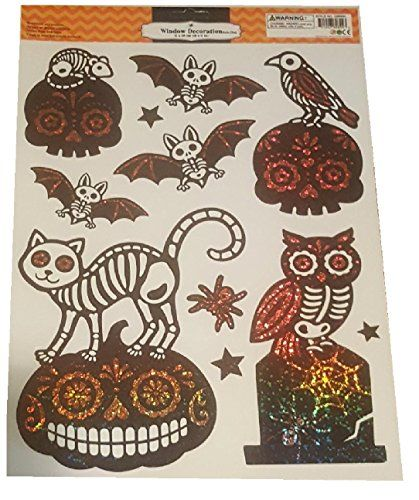 Halloween Window Decorations Removable and Reusable Sticker Clings - halloween window decorations