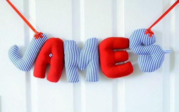 James personalized name banner nautical nursery dcor james personalized name banner nautical nursery dcor christening gift baby shower gift first christmas gift nautical baby gift negle Images