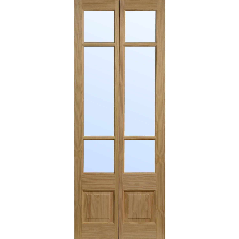 Elsdon Clear Pine Glazed Bifold Interior Door A Foyer Pinterest