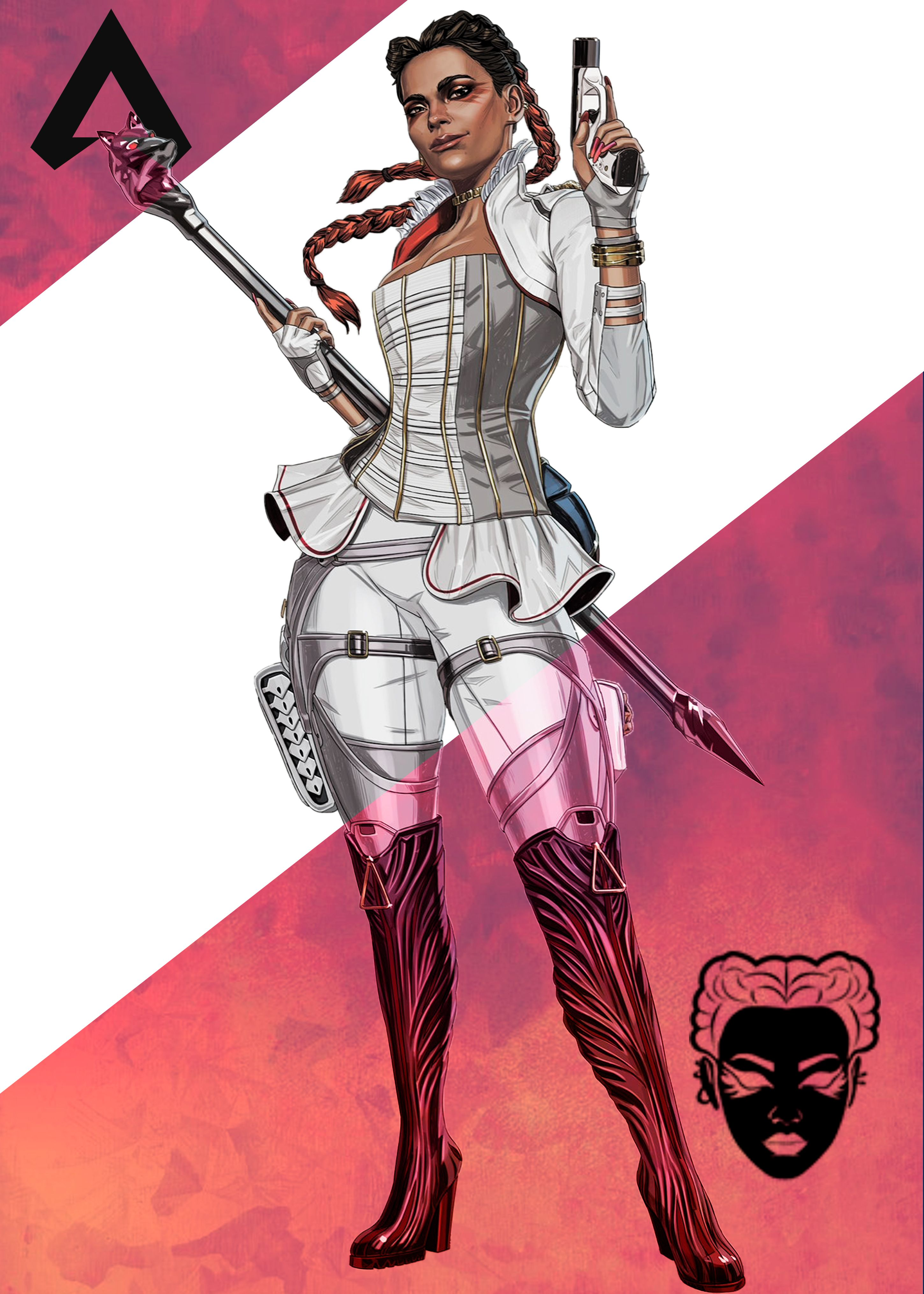 Loba Apex Legends Poster Print By Paul Draw Displate In 2020 Apex Girls Characters Legend