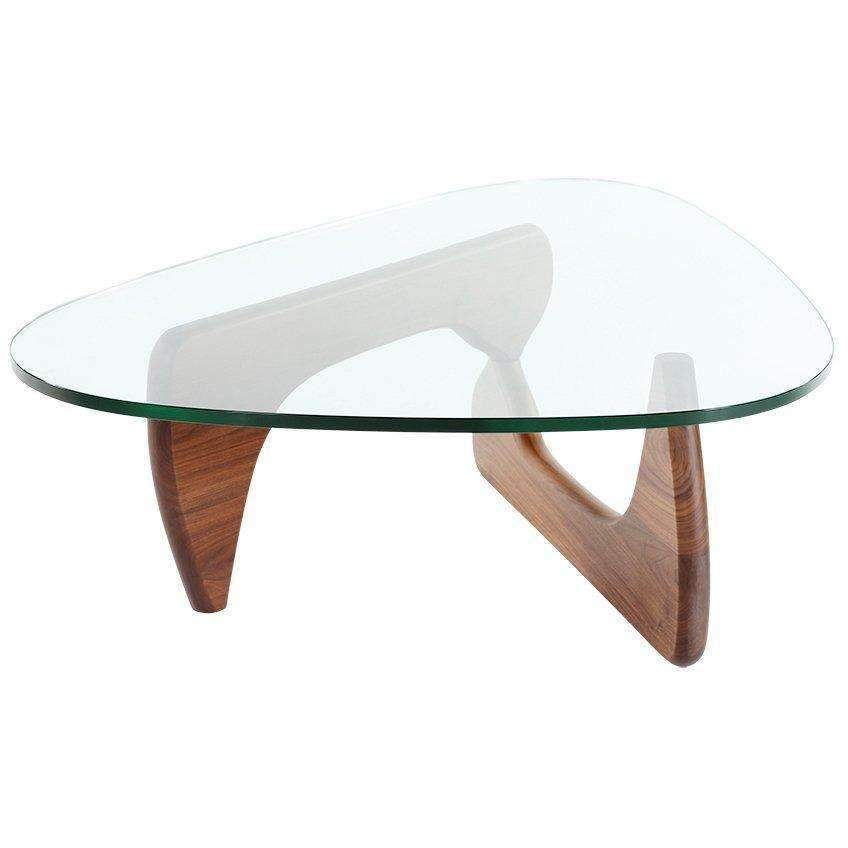 Mid Century Triangle Glass Coffee Table Staff Pick With Images