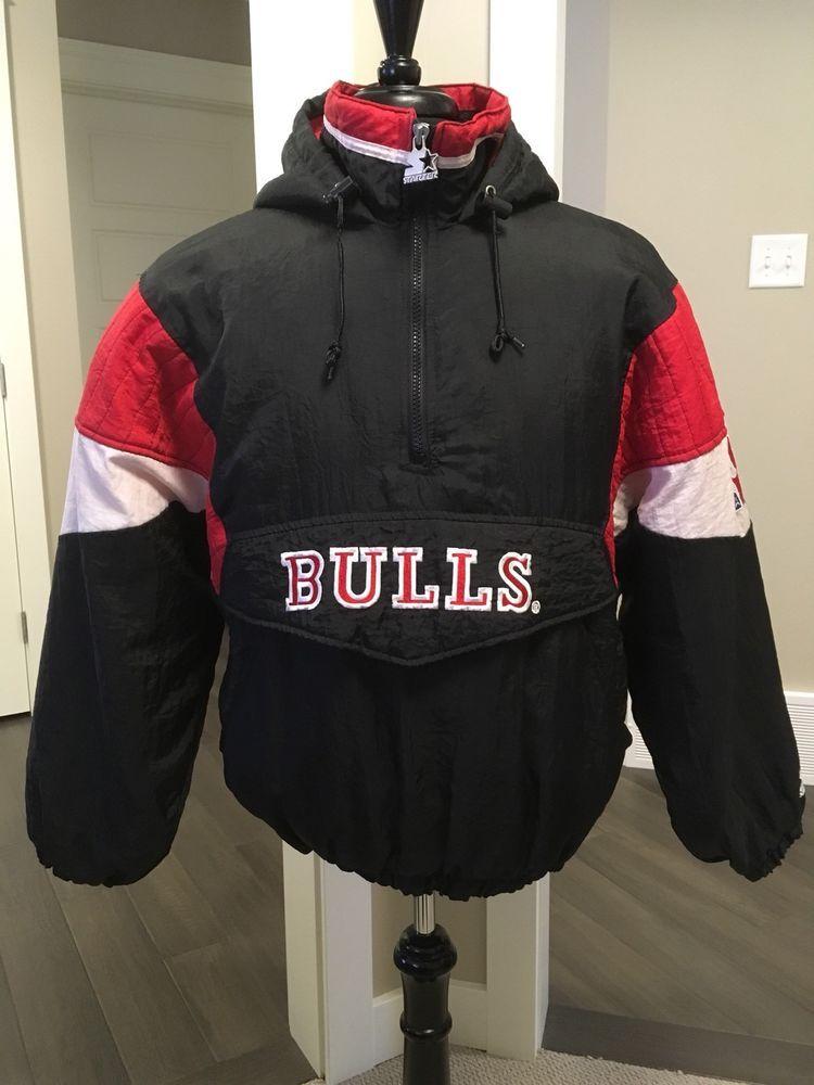 Chicago Bulls Nba Vintage 90s Starter Pullover Windbreaker Jacket Men S Xl Ebay Windbreaker Jacket Mens Rare Clothing Pullover Windbreaker