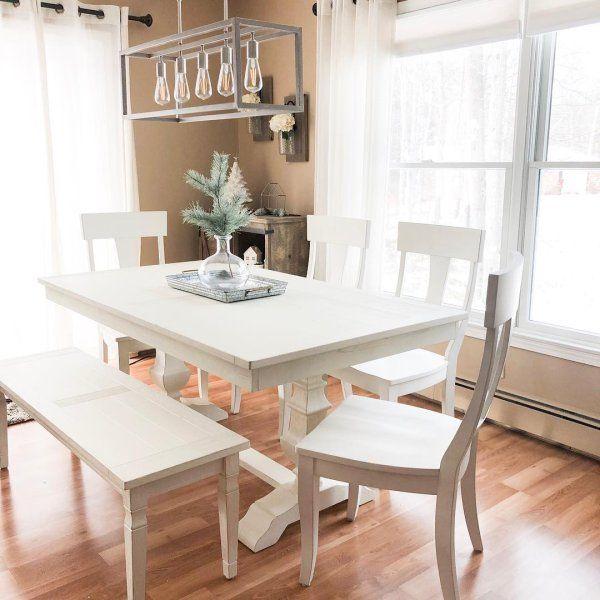 White Kitchen Bench Set