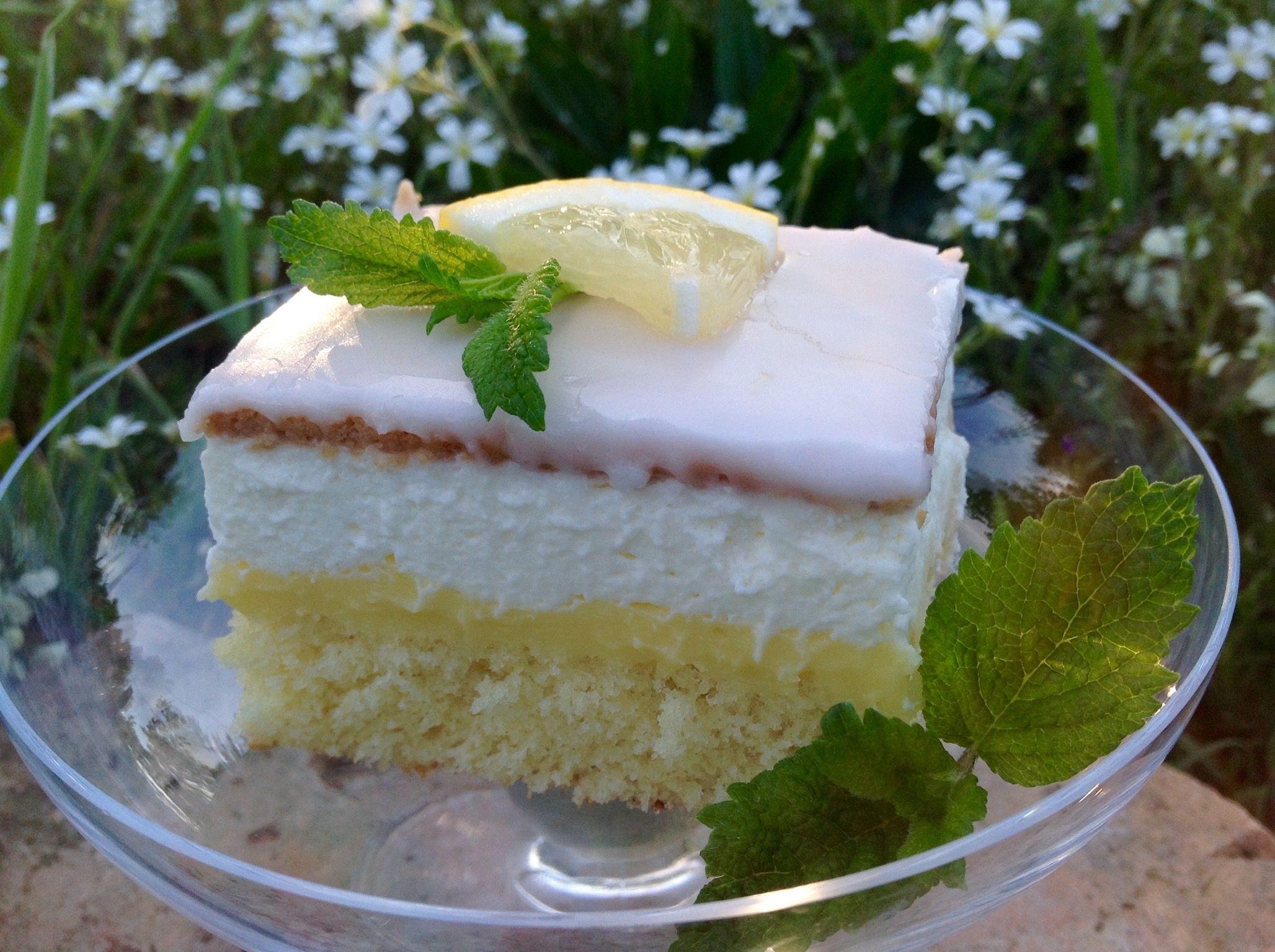 Zitronenschnitten, ein fruchtiger Sommergenuß #marshmallows