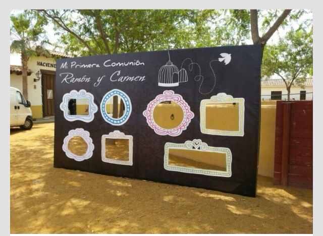 Photocall para comuniones ideas comuni n regalos pinterest - Ideas para hacer un cabecero original ...