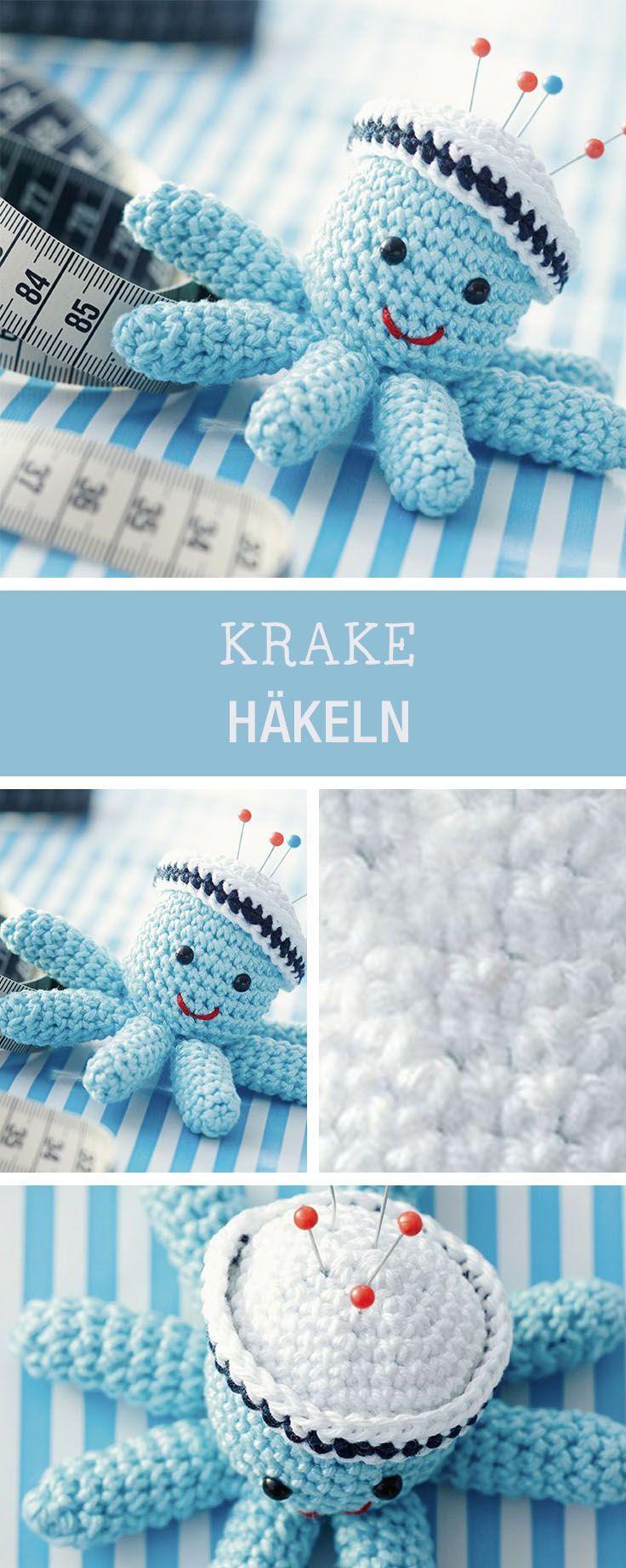 DIY-Anleitung: Krake als Nadelkissen häkeln via DaWanda.com | Krake ...
