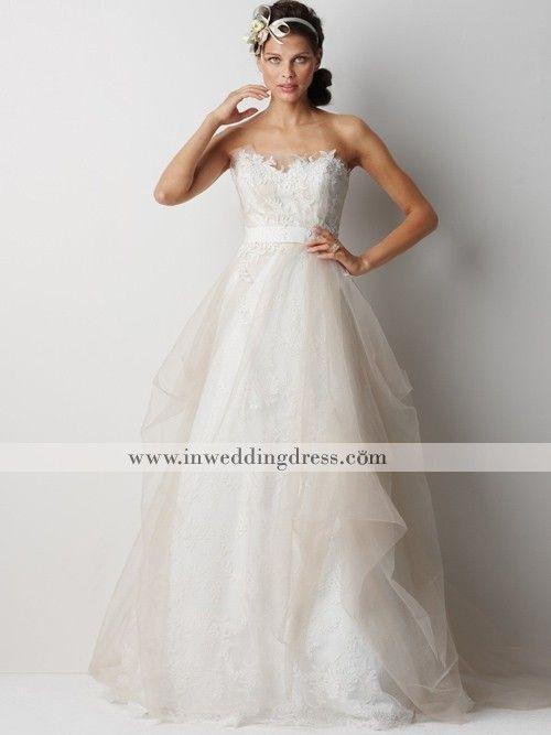 whimsical beach wedding dress