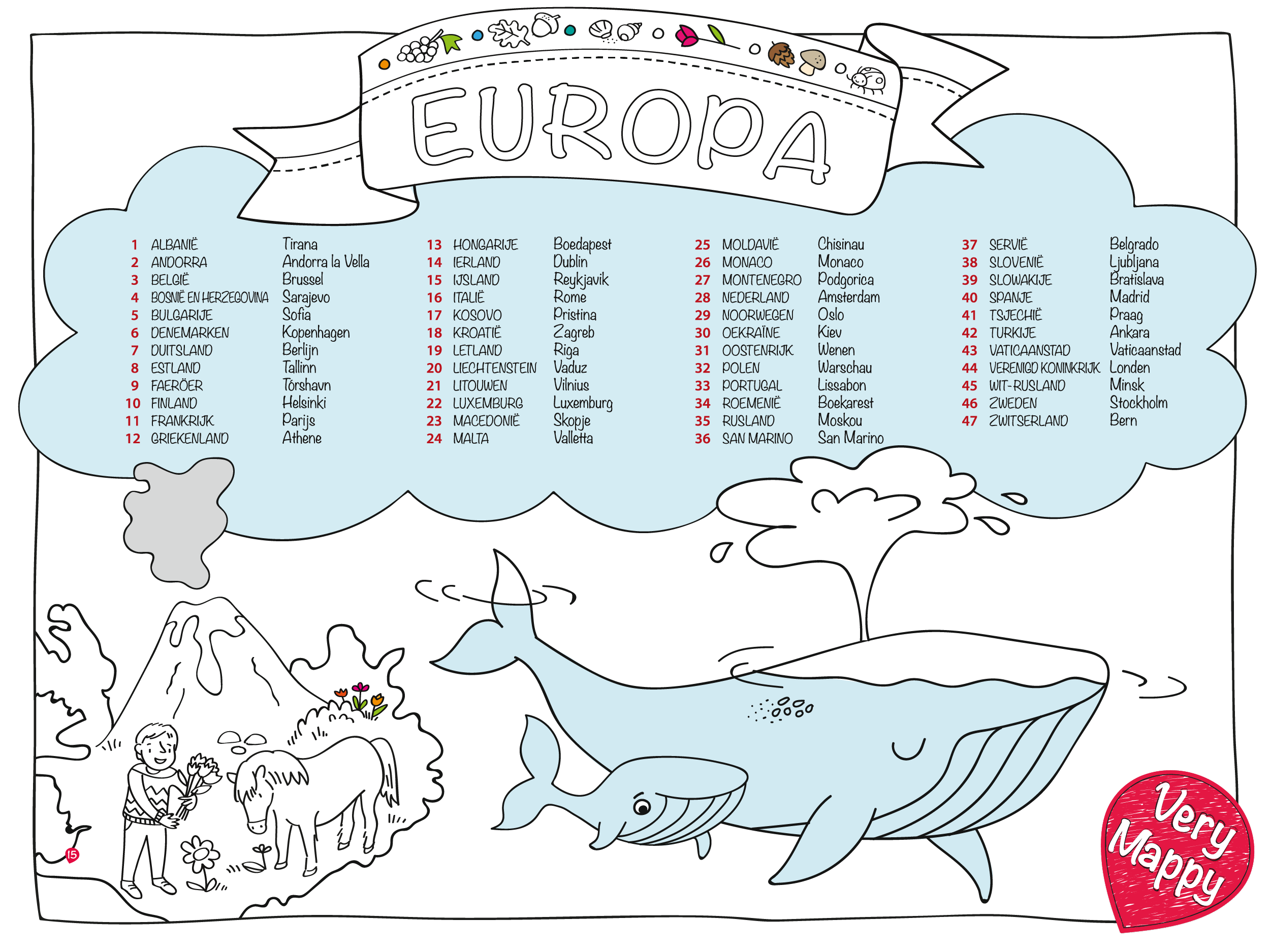 Very Mappy - coloring page - Europe verymappy.com | Very Mappy ...