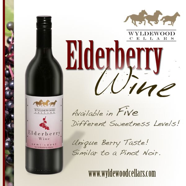 Wyldewood Cellars Elderberry Wine! Available in 5 different sweetness levels. Unique Berry Taste Delicious  sc 1 st  Pinterest & Wyldewood Cellars Elderberry Wine! Available in 5 different ...