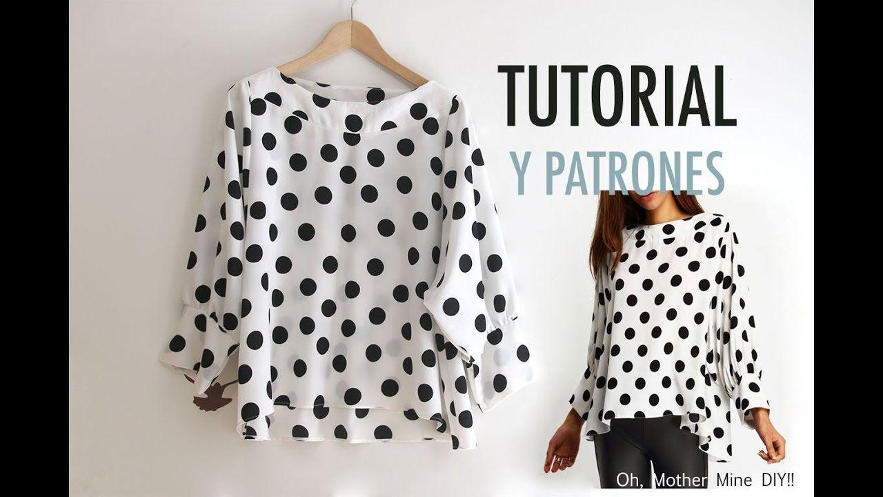 Costura: Blusa de lunares para mujer (patrones gratis) | Patrones de ...