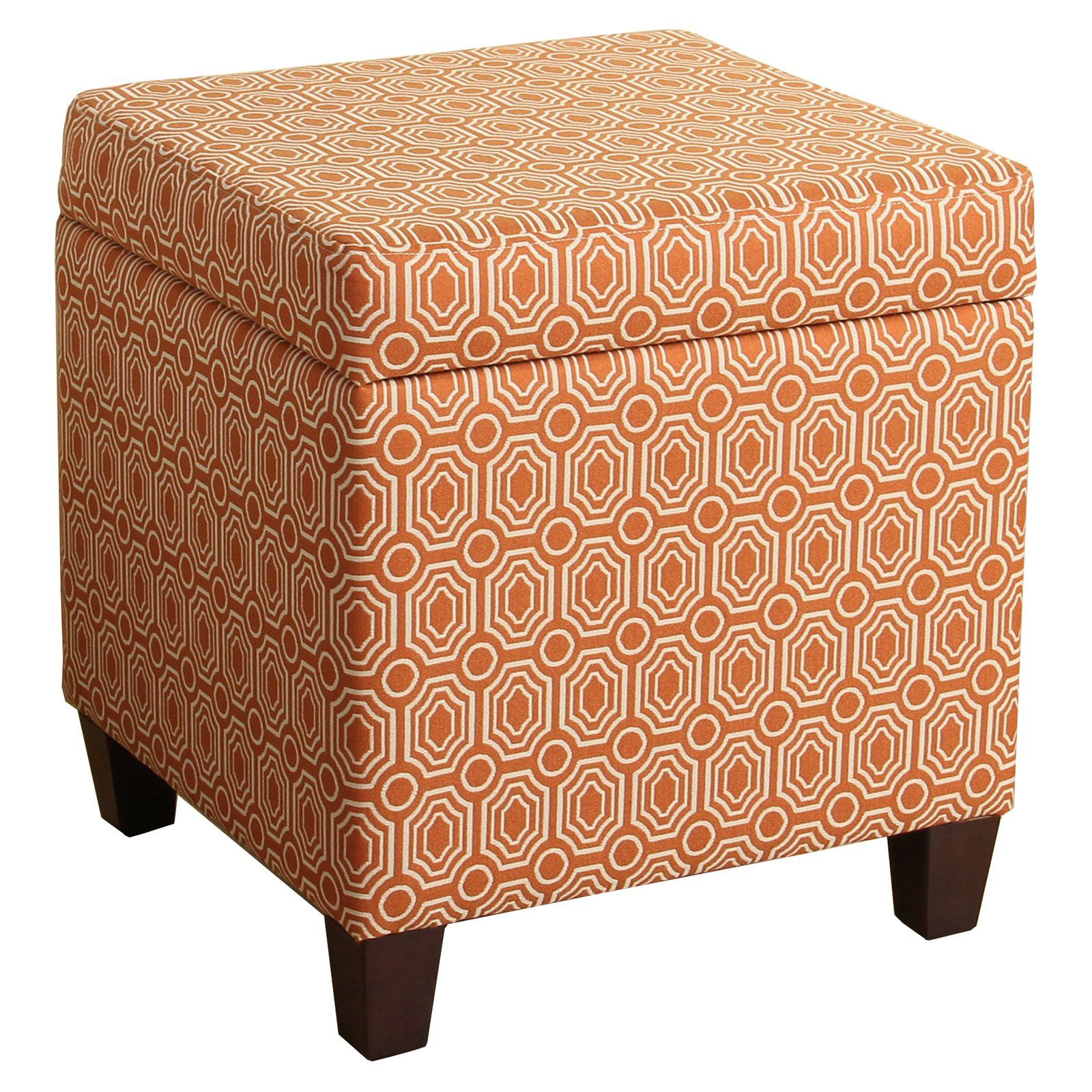 Homepop Storage Cube Ottoman Orange Storage Cube Ottoman Cube