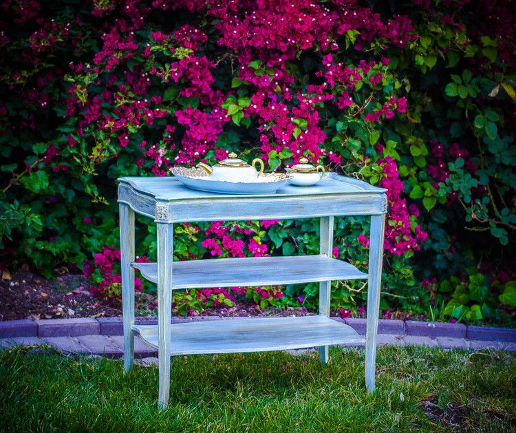 3 tier french table $75 | Outdoor furniture sets, Painted ...