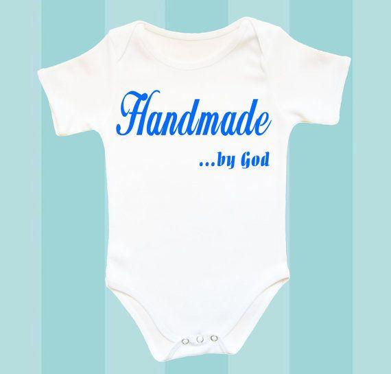 Handmade By God Baby Bodysuit Infant Baby By Crazybabyfashion