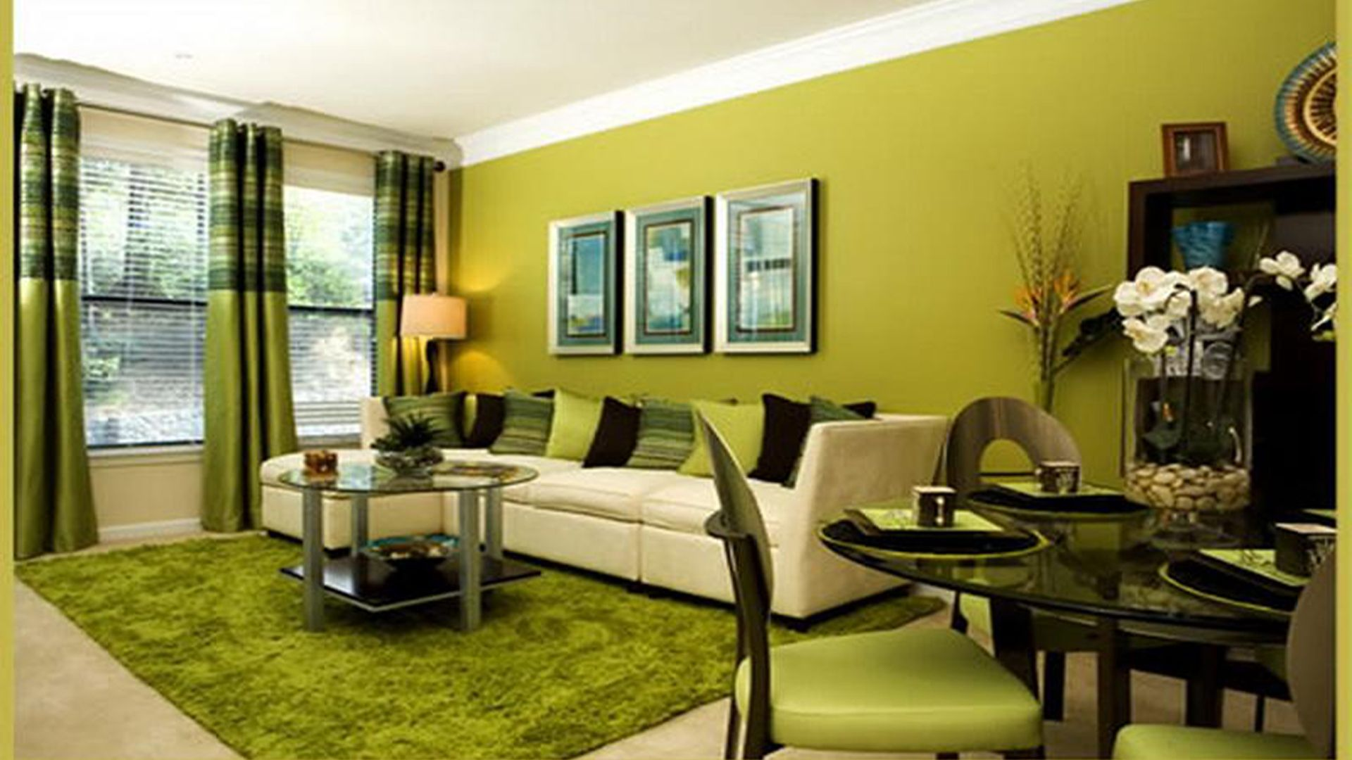 Luxury Interior Green Living Room Inspirations | Nature in 2018 ...