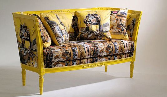 Versace Home - Sofas Lacquered wood frame with handicarvings