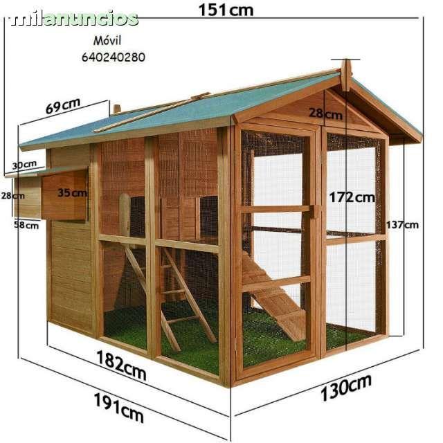 Mil anuncios com gallinero madera maciza granja y componentes - Casas de madera milanuncios ...