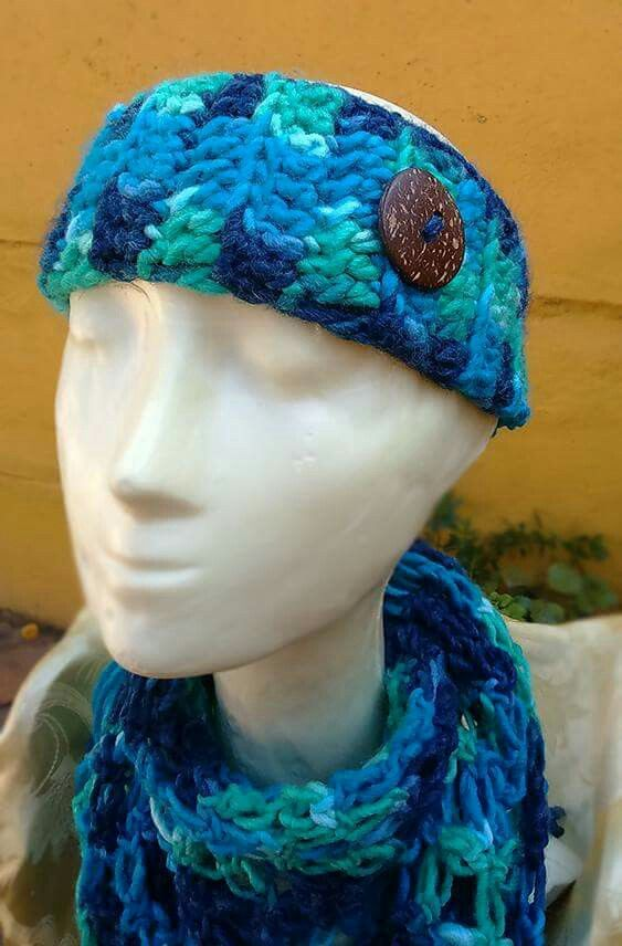 Cintillo de lana tejido a mano | Headband Ear Warmer Knit | Pinterest