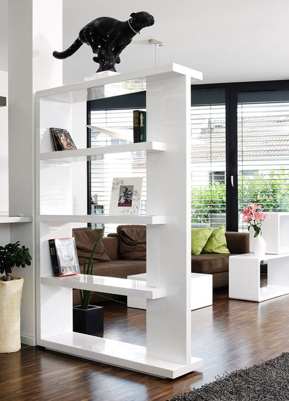 80 Incredible Room Dividers And Separators With Selves Design Hoommy Com Living Room Kitchen Divider Living Room Divider Living Room Partition Design #separators #for #living #room