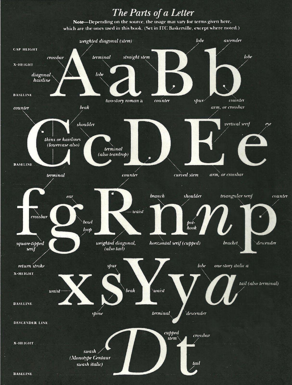 Navarrodesigns: Anatomy of a Letterform | typography | Pinterest ...