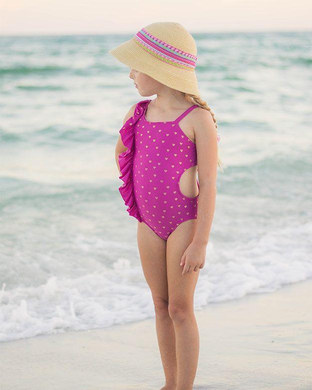 Lorelei\'s Flutter Cutout Swimsuit. PDF sewing patterns for girls ...
