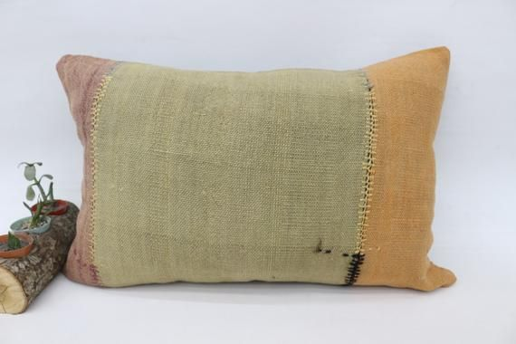 Turkish Pillow, Kilim Pillow 16x24 Pillow Cover, Wholesale Pillow, Striped Pillow, Decorative Pillow