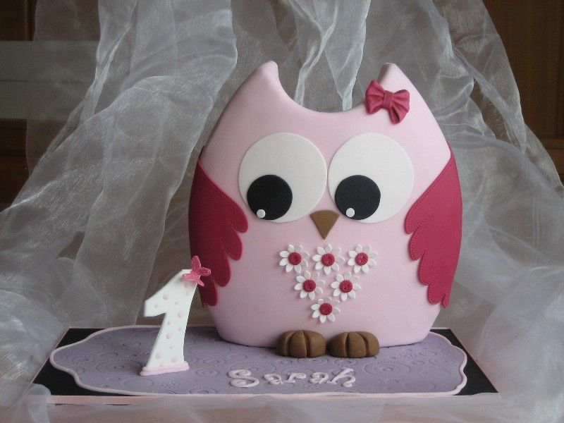 Owl cake for the 1th birtday Love thismaybe i can do this for my