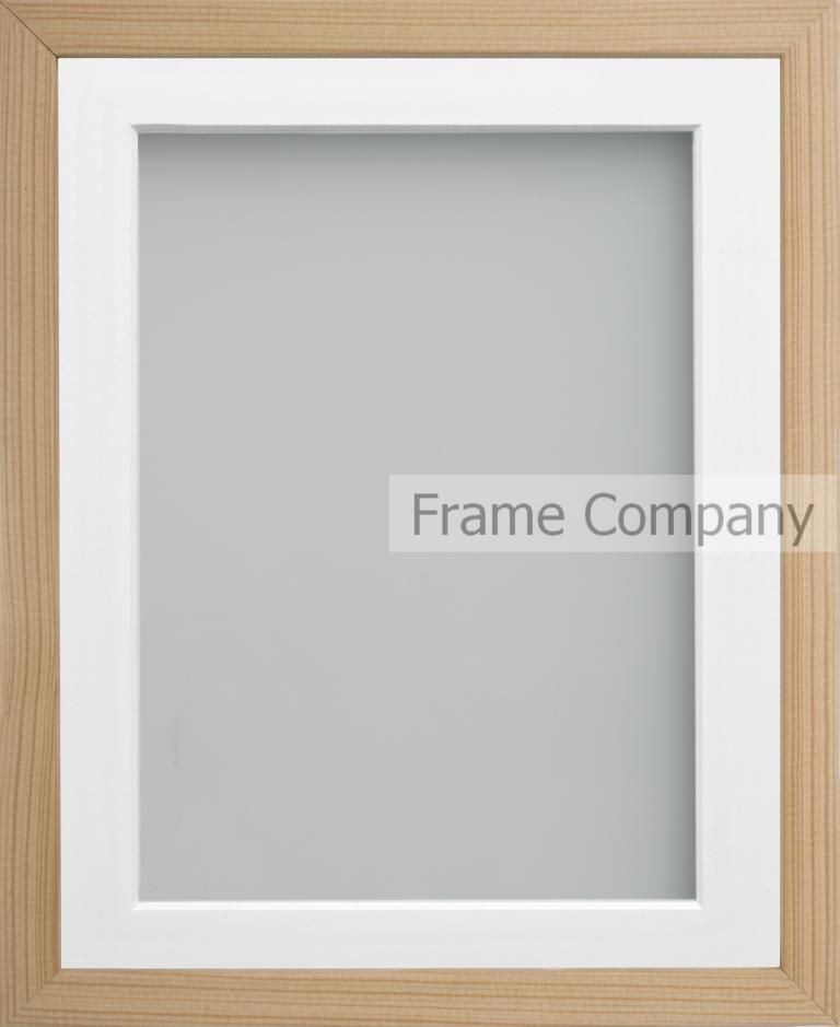 Beech A3 165x1175 Frame With White Mount Cut For Image Size A4
