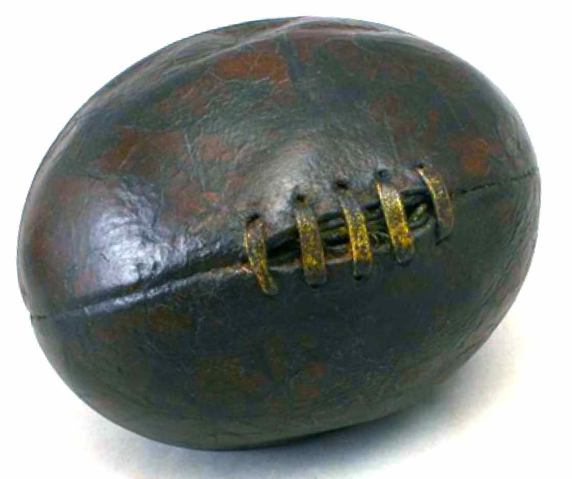 Antique melonstyle rugby football this is a very unique