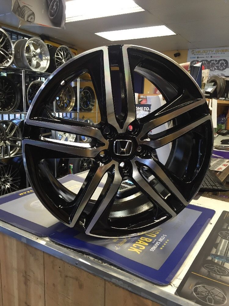 "Cool Awesome 19"" 2017 ACCORD SPORT STYLE WHEELS RIMS BLACK"