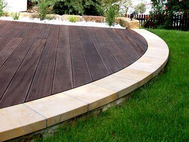 Holzterrasse geschwungen | Garten | Pinterest | Holzterrasse, Gärten ...