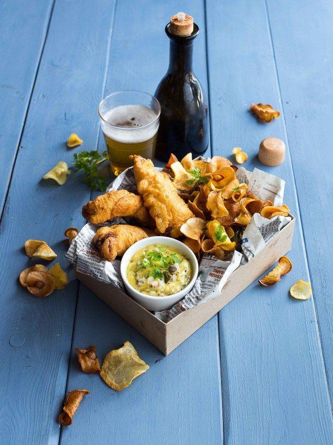 Fish & chips - chips de légumes d'hiver