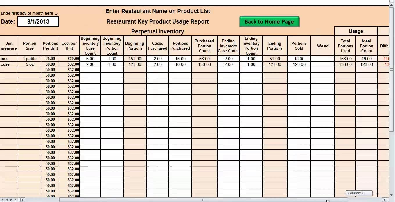 Restaurant Inventory Spreadsheet Download Inventory Management Templates Excel Spreadsheets Excel Templates