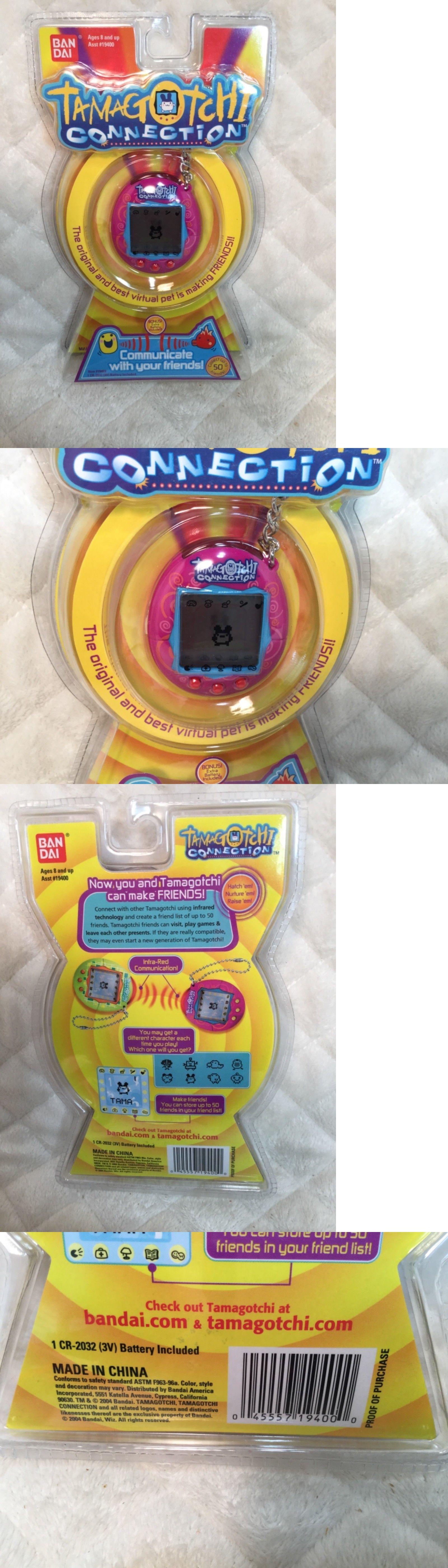 Bandai Tamagotchi Connection Pink u Blue With Orange Swirls NEW