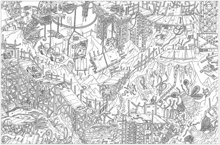 25+ Marvelous Photo of Complex Coloring Pages   London map ...