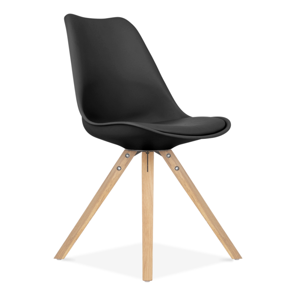 Eames Chair Gepolstert eames inspired schwarz esszimmerstuhl mit pyramide soliden
