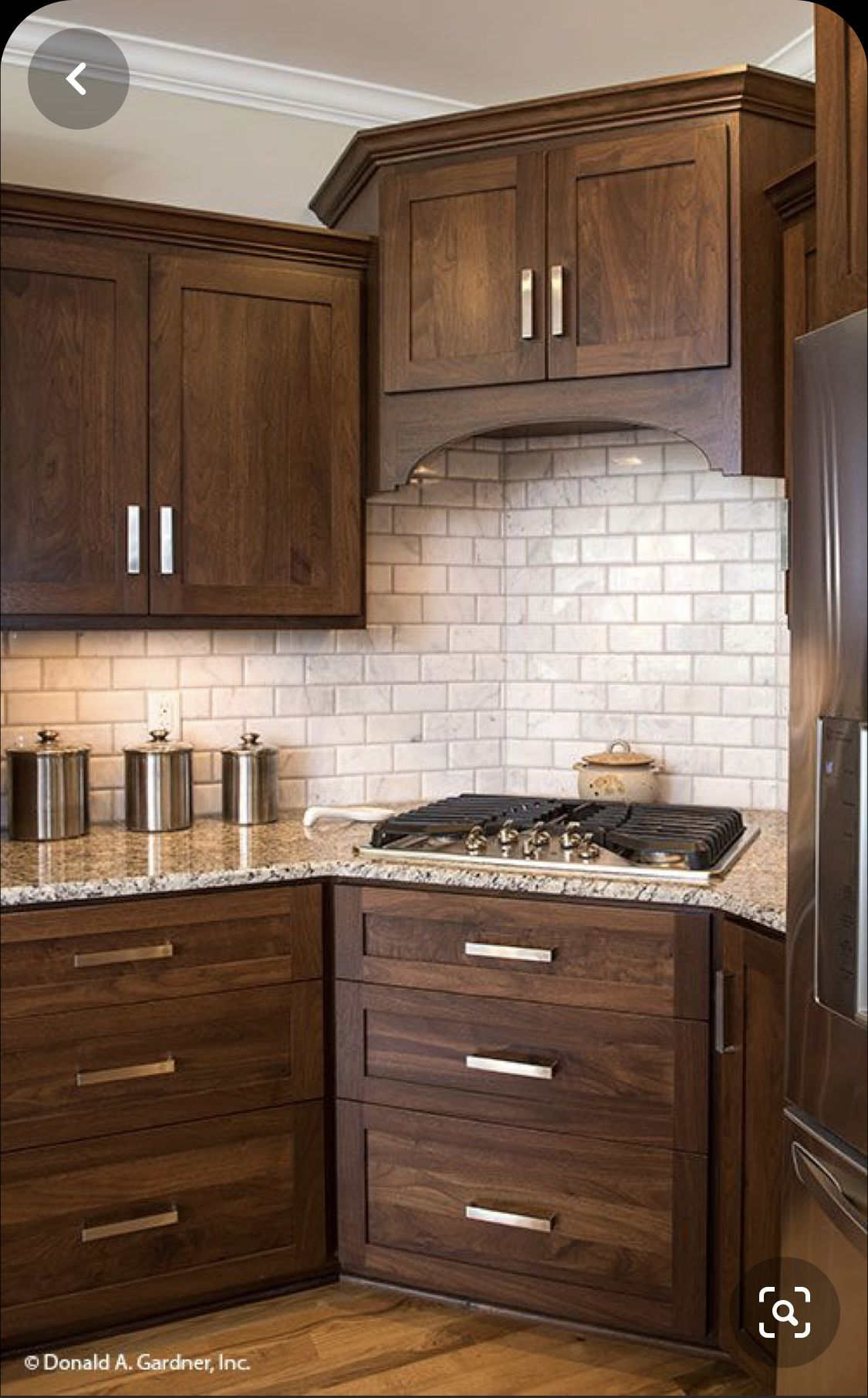 Perfect Cabinet Color In 2020 Brown Kitchen Cabinets Stained Kitchen Cabinets Walnut Kitchen Cabinets