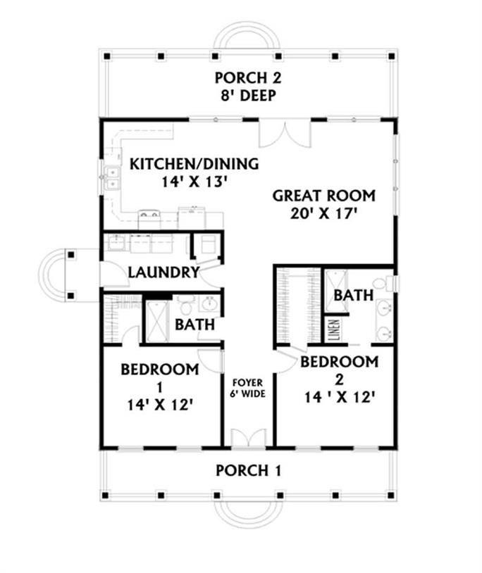 50++ 2 bedroom house plans open floor plan information